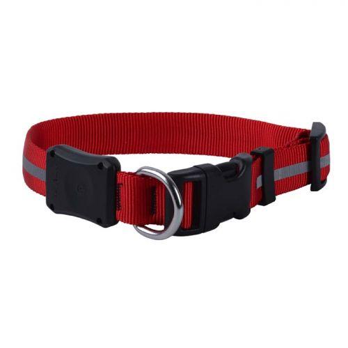 Nite Ize NiteDawg LED Işıklı Köpek Tasması-Kırmızı