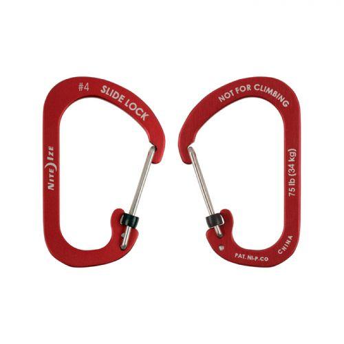 Nite Ize SlideLock Alüminyum Carabiner #4-Kırmızı